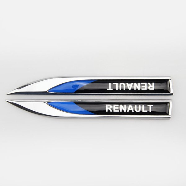 best selling stickers Car Exterior Accessories Automobiles RENAULT personality modified blade metal side label decoration Tin alloy Fender Mark