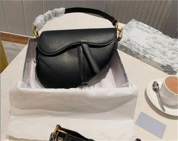 top popular Designer bags Luxury shoulder bags girl Genuine leather handbag with letters shoulder bag genuine leather Messenger bag saddle bags 2020