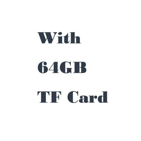 Com cartão de 64GB TF