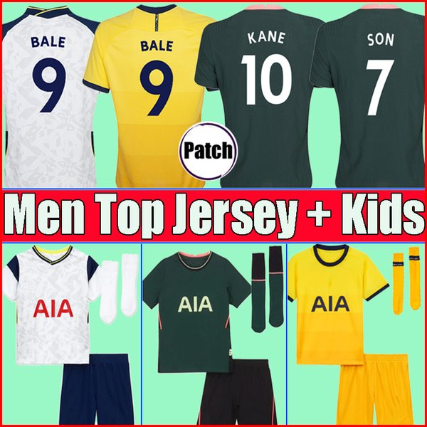 top popular 20 21 KANE SON BERGWIJN Soccer Jerseys 2020 2021 LUCAS SPURS DELE TOTTENHAM Football kit shirt BALE NDOMBELE tops Men kids sets boy socks 2020