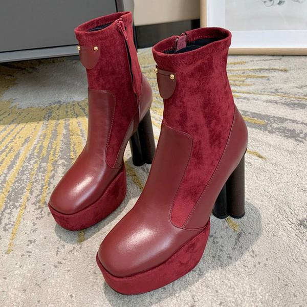Borgoña las botas del tobillo
