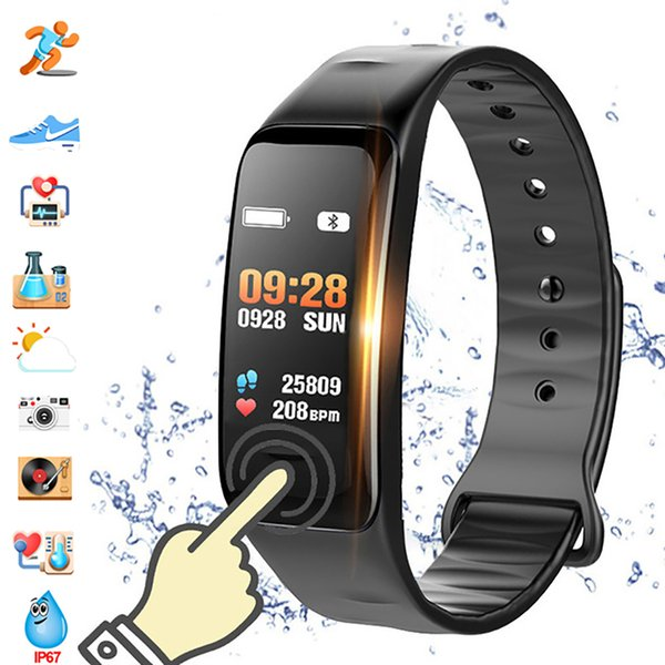2020 Color Screen C1 Smart Bracelet Waterproof Heart Rate Monitor Health Fitness Tracker Bluetooth Smart Watch for Sport Brand Name : lieve Touch Screen : Yes Screen Type : LED Compatibility : All Compatible Band Material : Rubber Function : Passometer Function : Fitness Tracker