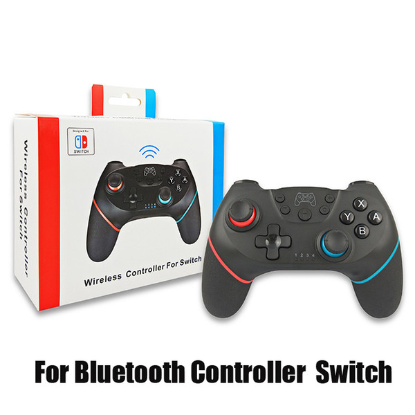 top popular Wireless Bluetooth Controller for Switch Pro Vibration Joystick Gamepad Game Controller for Nes Play Station With Retail Box 2020