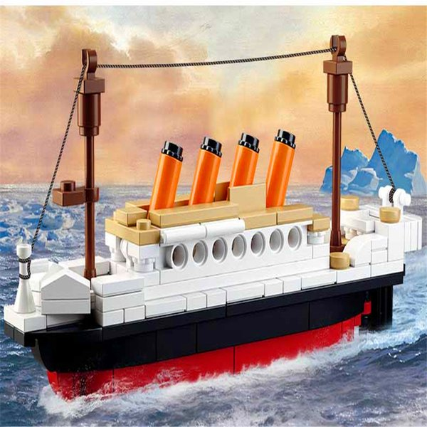 top popular 194pcs Titanic Ship Boat Model Building-block Toys Compatible with inglys DIY Educating Children Christmas Gifts 2020