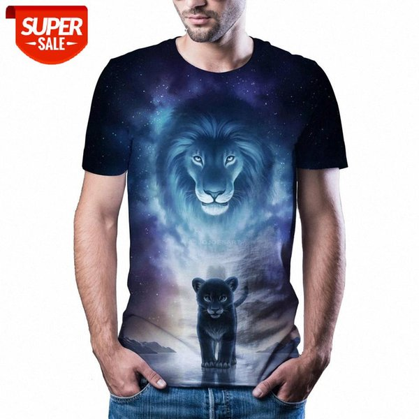 top popular New T-shirt men's high-quality men's T-shirt short-sleeved 3D character animal print fashion handsome #sU5x 2021