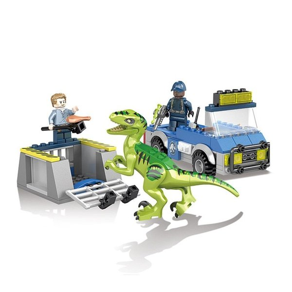 best selling Jurassic World Park Raptor Helicopter Car Building-block Toys Compatible with inglys DIY Educating Children Christmas Gifts