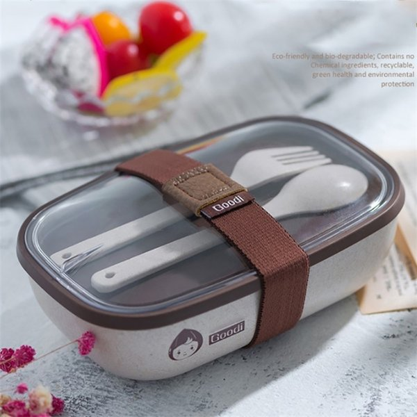 top popular ONEUP Natural Cereals Lunch Box For Kids BPA Free Bento Box With Tableware Microwavable Food Container Children School Picnic 201210 2021