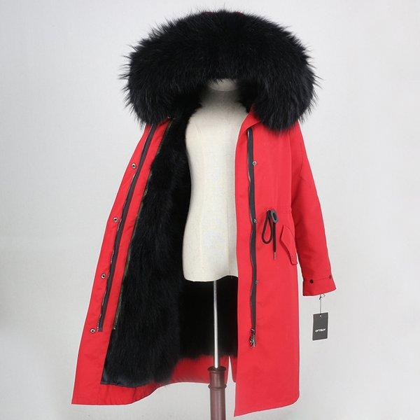 X-longo vermelho preto