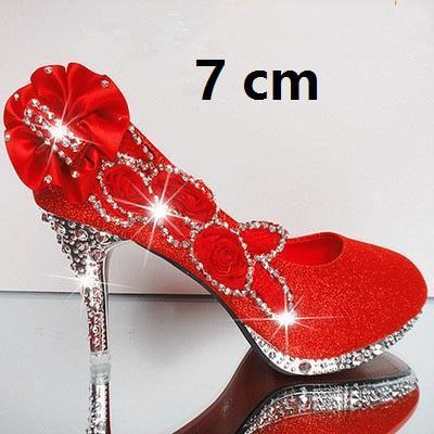 Vermelho 7 cm.