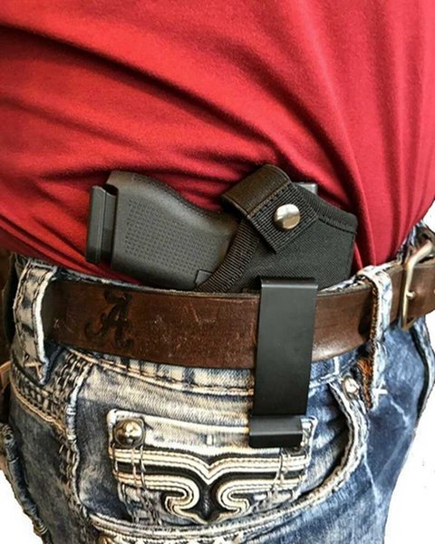 top popular ULTIMATE THE CONCEALED CARRY TACTICAL GUN HOLSTER WITH METAL BELT CLIP FOR 31 32 33 38 2021