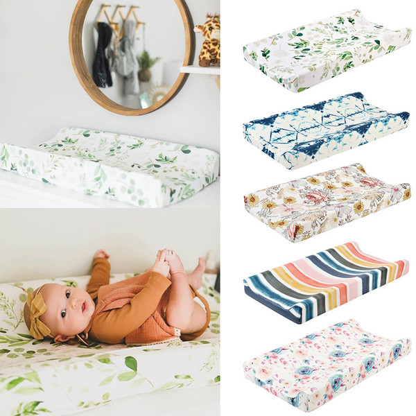 best selling Newborns Baby Nursery Diaper Changing Pad Cover Changing Mat Cover Breathable Cotton Fitted Changing Table Bassinet Sheet#p4 C1008
