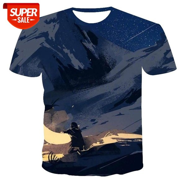 top popular New T-shirt Men's High Quality Men's T-shirt Short Sleeve Meteor Pattern 3D Printing Fashion Handsome #LS8b 2021