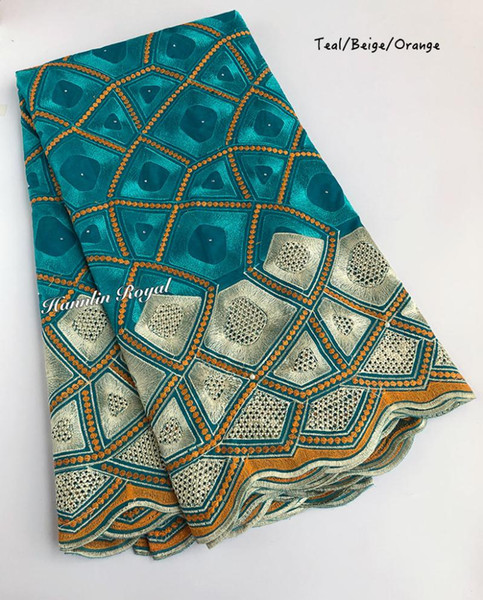 top popular Soft cotton lace full embroidery African Swiss lace fabric Nigerian garment voile clothes high quality 5 yards per piece 2021