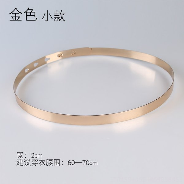 Ancho: 2 cm Oro Pequeño