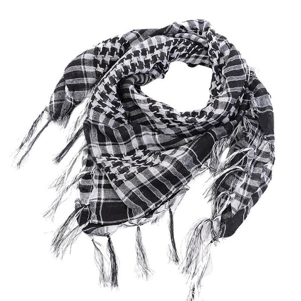 top popular Puimentiua Unisex Scarves Fashion Women Men Arab Shemagh Keffiyeh Palestine Scarf Shawl Wrap New Spring Plaid Scarf For Women 2021