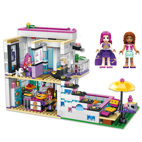 best selling 760pcs Girl Series Wild Villas Compatibie Building-block Toys Compatible with inglys DIY Educating Children Christmas Gifts