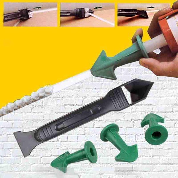 top popular 1set Finisher Sealant Smooth Scraper Grout Kit Tools Plastic Hand Tools Silicone Remover Finisher Caulk Set Accessories1 2021