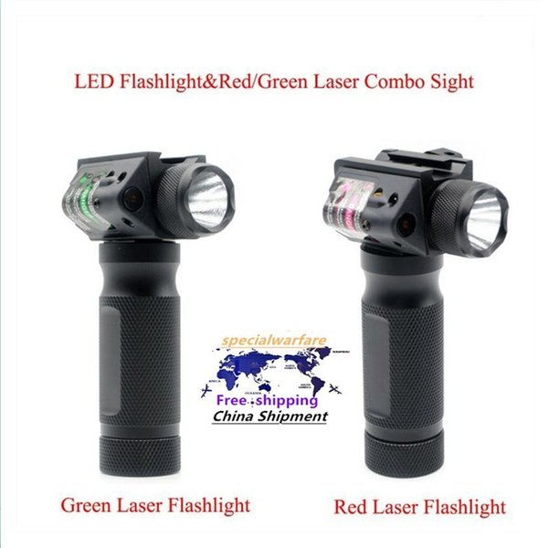 best selling Hunting Tactical LED Flashlight & Red Green Laser Combo Sight Tactical Gun Torch For 20mm Picatinny Rail