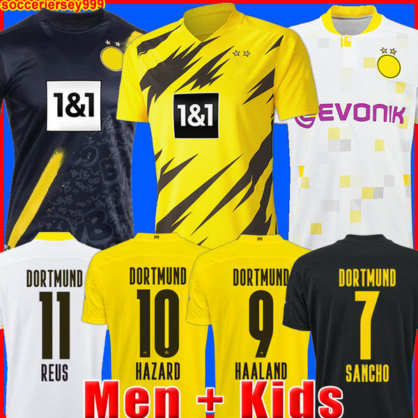 best selling HAALAND REUS Borussia 20 21 dortmund soccer jersey 2020 2021 football shirts BELLINGHAM SANCHO HUMMELS BRANDT men + kids kit maillot de foot