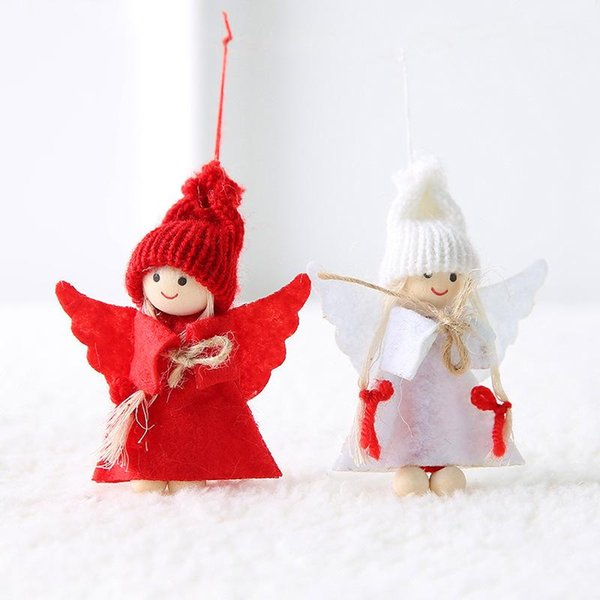 2 pcs-red whit angel