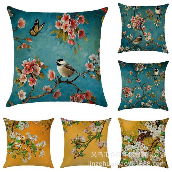 best selling Household goods blooming rich and noble pillow cover sub leprosy car sofa cushion waist pillow cover