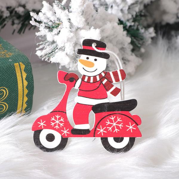 木质 自行车 雪人