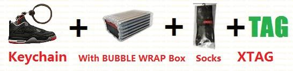 Bubble Wrap + Box + Keychain + SOCKS + Tag