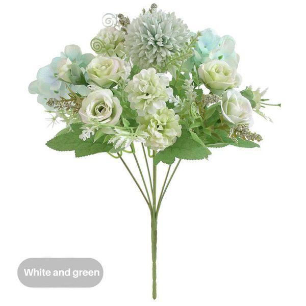 Rose blanca-verde