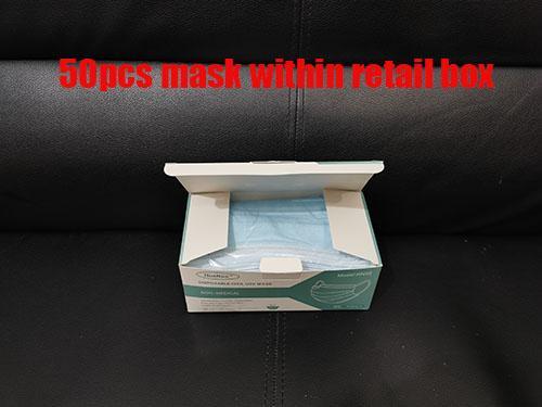 Le maschere 50pcs vengono all'interno della scatola indivisa