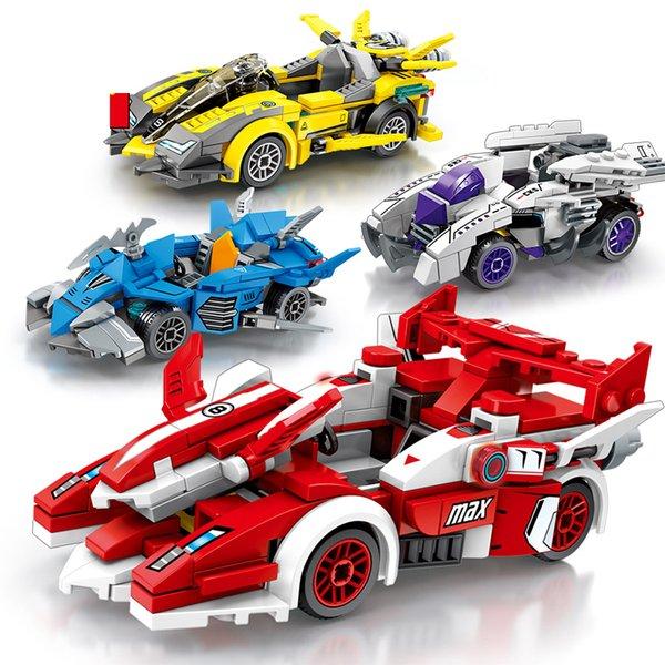 top popular Assembled Supercar City Series Building Blocks Boys Classic Car Intellectual Force Insertion Racing Model 2020