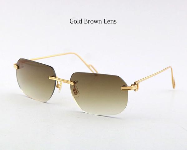 عدسة ذهبية براون