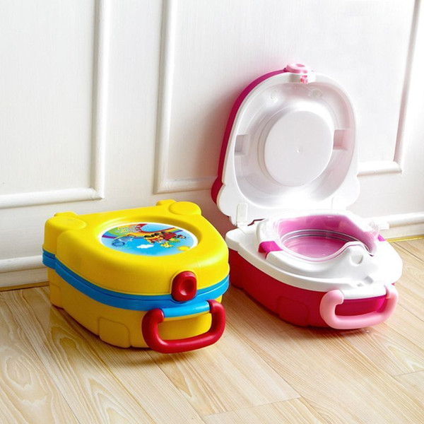 best selling Carry Potty Toilet Training Portable Travel Toilet Trainer Just for Kids LJ201110