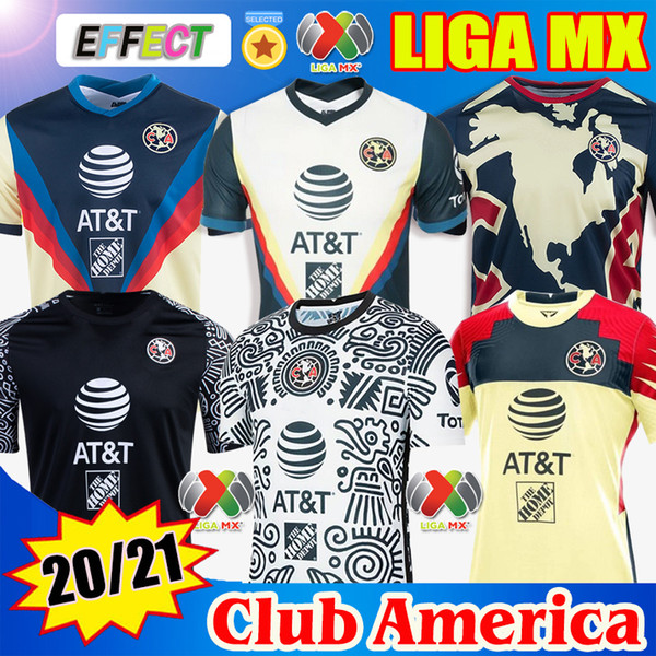 best selling New 20 21 Club America Soccer Jerseys 2020 2021 Home Away Third Training Tigres Chivas de Guadalajara kit Camisas de Futebol Football Shirt