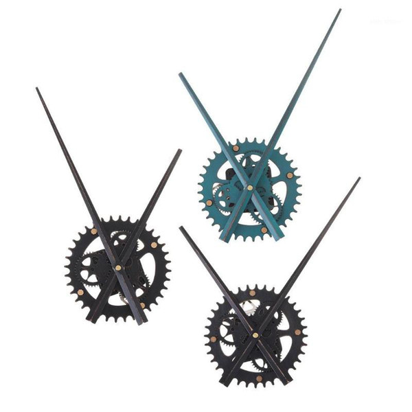 best selling Vintage Wood Quartz DIY Wall Clock Movement Gear Mechanism Pointer Repair Parts Tools Kit Watches Accessories Replacement1