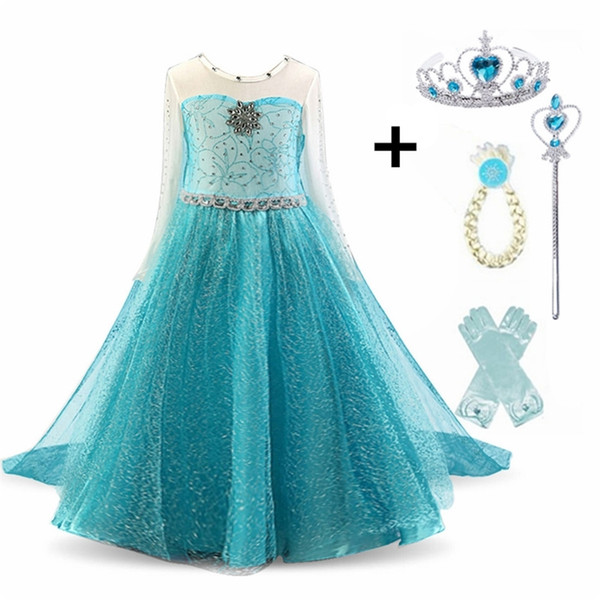 top popular Dress for Baby Girls Fancy Princess Party Costume Kids Comic Con Queen Cosplay Dress Halloween Disguise Clothing 201130 2021