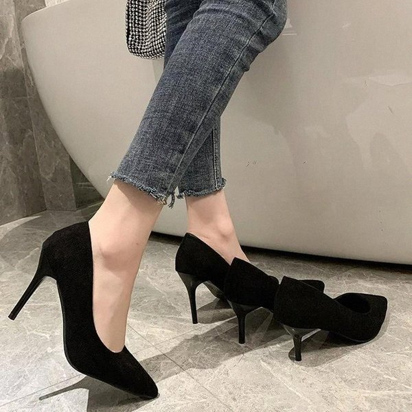 2021 Autumn New Simple Elegant High Heels Stiletto Womens Shoes Pointed Black Etiquette Professional Shoes Zapatos Mujer #w26r Cataloge: Women Shoes, Shoes For Women, Girls' Shoes, Ladies Shoes, Female ShoesStyle: Fashion / Trendy / New / HotOccasion: All Match / Streetwear / Club / PartyFor Group: Girls / Women / LadiesWearing Design: Fashion / Comfortable / BreathableFeatures: High Quality / Anti-wearingKeywords: Women Shoes, Shoes For Women, Girls' Shoes, Ladies Shoes, Female Shoes