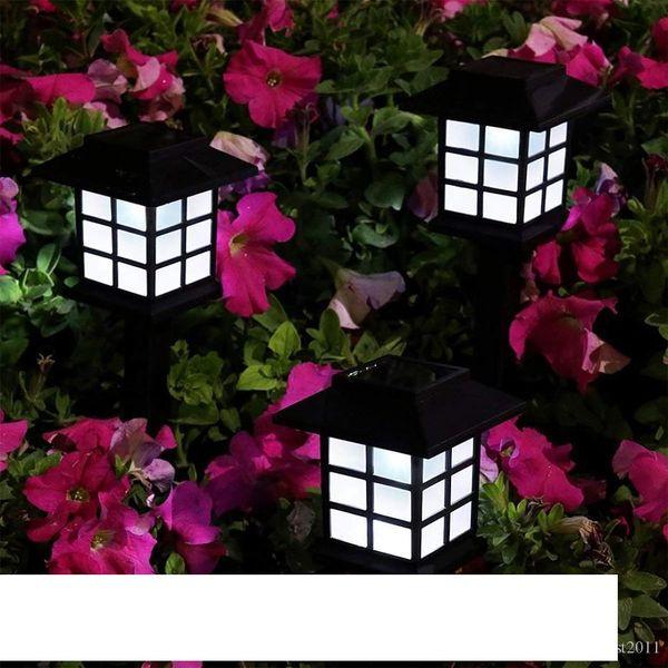 Colorful Box LED Solar Lantern Lawn Lamps Waterproof Outdoor Garden Solar Spotlight Pathway Landscape Retro Solar Underground light