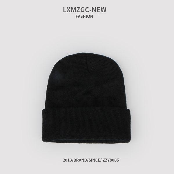 Sombrero de punto fluorescente - Negro