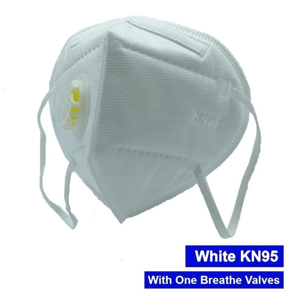 Weiße Maske mit 1 Ventil