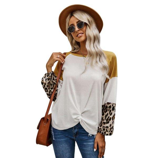 Modello di leopardo assortito bianco