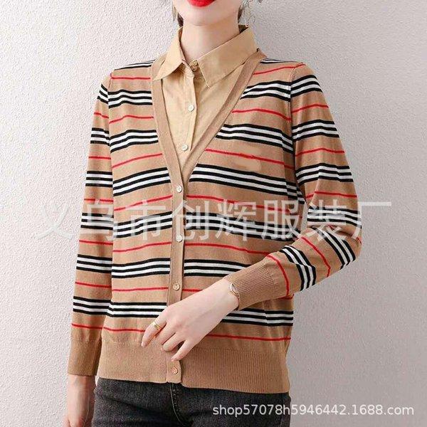 Khaki Stripe Langarm