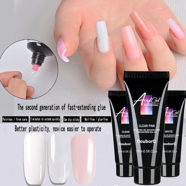 best selling Nail Extenion Gel 15ml Nail Polish Gel UV LED Quick Buliding-nail Gel Quick Extension Manicure tool