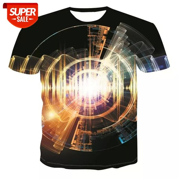 best selling New Summer clothing short-sleeved tops Street fashion trend youth t-shirt geometric graphic fashion T-shirt men's casual shirt #hu97