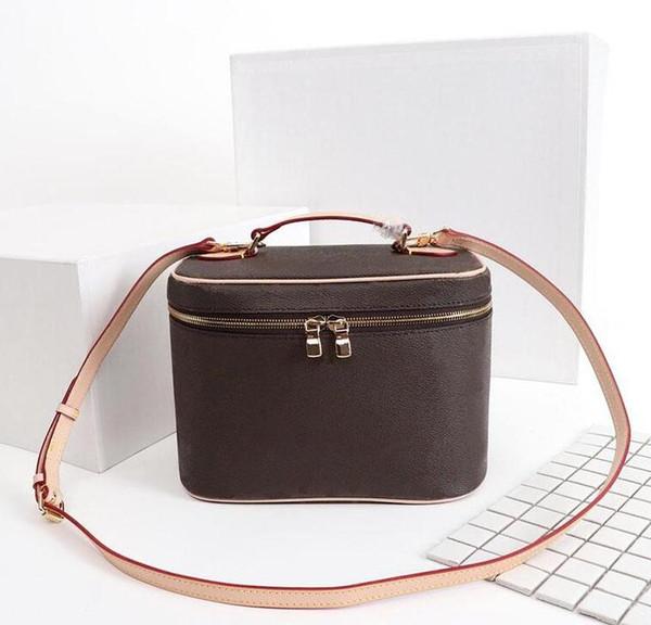 top popular Designer Makeup Bag Women Old Flower Make Up Bag Designer Pouch Fashion Designer Cosmetic Bag Handbag Shoulder Bags dropshipping 2021