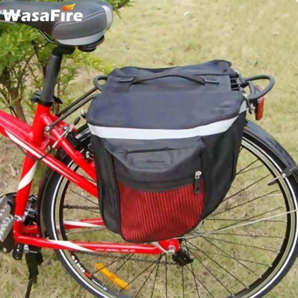 top popular Cycling Bags 25L Rainproof Mountain Road Bicycle Carrier Bag Double Side Bike Rack Back Rear Seat Tail Trunk Waterproof Bag1 2021