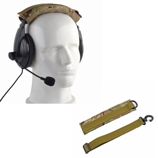top popular Shooting Hunting Range Hearing Protection Cover Wrap Headset Cover MOLLE Headband for General Tactical Earmuffs Headphone Ear Muffs Cover 2021