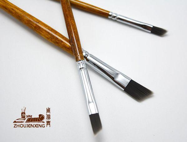 best selling 3pcs Setblack Forest series B paragraph Knife shape Nylon hair Drawing Art Pen acrylic painting brush Set Drawing Art Supplies