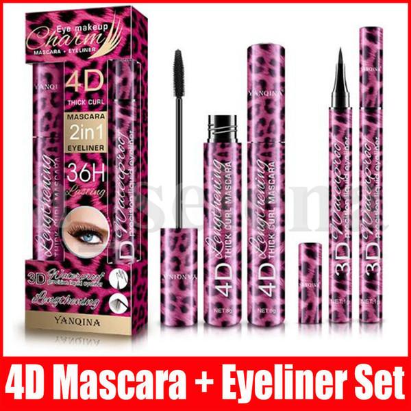 best selling Eye Makeup Set 2 in 1 Mascara eyeliner 4D THICK CURL 36H liquid eyeliner Long-lasting Waterproof type Lengthening Cruling Christmas Gift