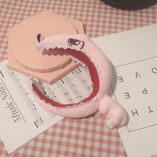 Розовый динозавр лента волос # 74090