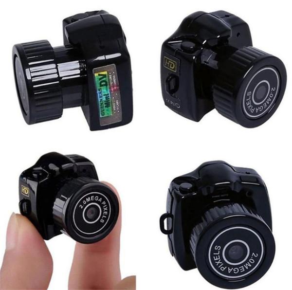 top popular Mini Wireless Camera 1080P Video Audio Recorder Y2000 Camcorder Small DV DVR Security Secret Nanny Car Sport Micro Cam with Mic 2021